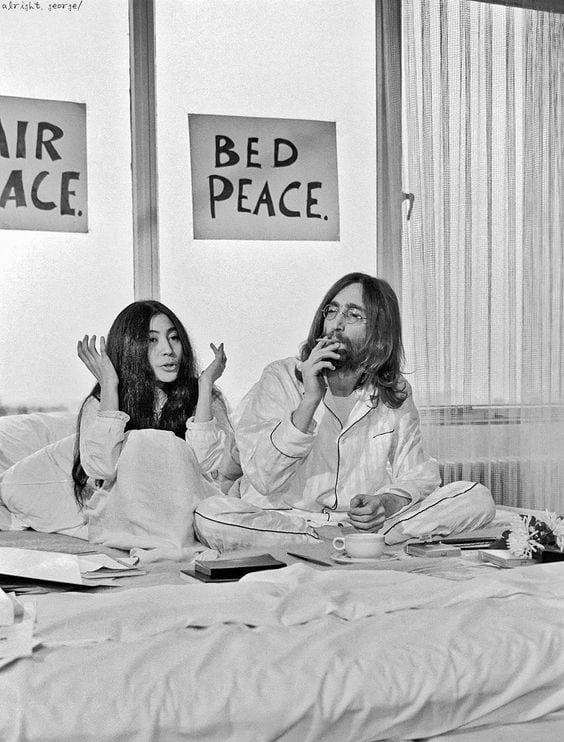 Yoko Ono e John Lennon - Amsterdam 1969
